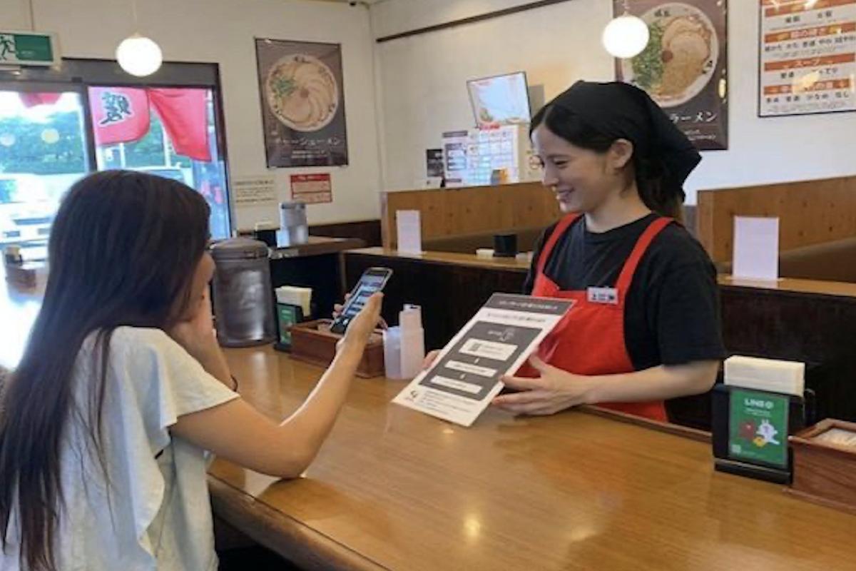 飲食店でデジタルスタンプカードを導入!若い世代のリピーターが増。